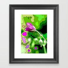 Falling Petals Framed Art Print