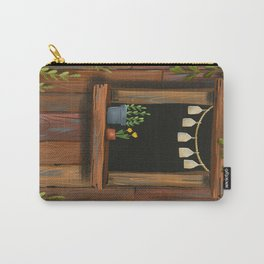 sunny day cabin in the woods Carry-All Pouch