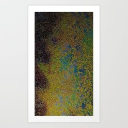 Earth overview texture Art Print