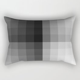 Value scale ..black , white  and grays Rectangular Pillow
