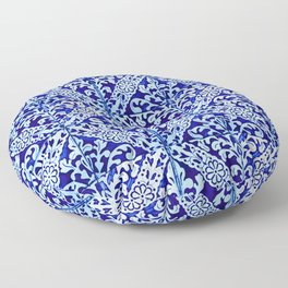 talavera mexican tile Floor Pillow