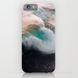 Ocean Wave breaking in the sunset – Water Photography iPhone Case