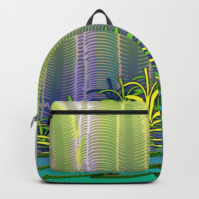 Tropical Yellow Jungle Backpack
