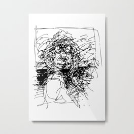 Face The Man On The Bus Metal Print
