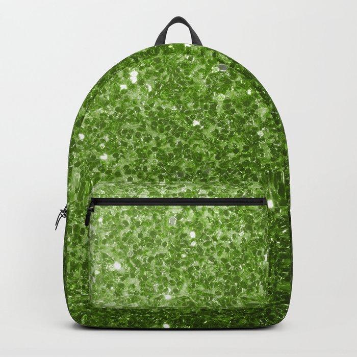 Beautiful Greenery Pantone glitter sparkles Backpack