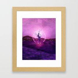 2077 landscape Framed Art Print