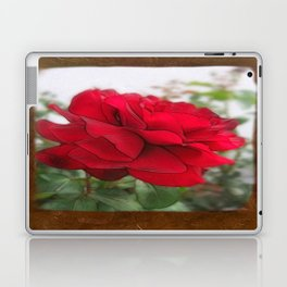Red Rose Edges Blank P3F0 Laptop & iPad Skin