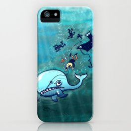 Whales are Furious! iPhone Case