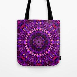 Purple Petal Garden Mandala Tote Bag