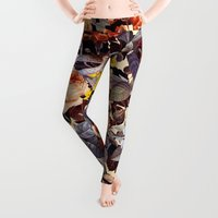 floral pattern Leggings featuring Floral Pattern by Burcu Korkmazyurek