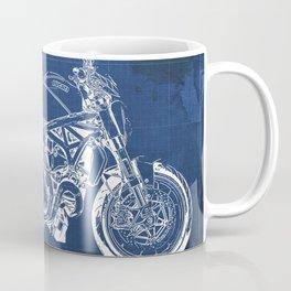 Motorcycle Blueprint Monster Coffee Mug