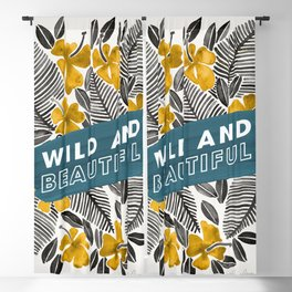 Wild & Beautiful – Yellow Palette Blackout Curtain