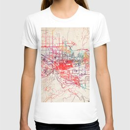 Grand Junction map Colorado CO T-shirt