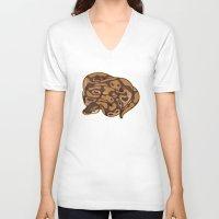 monty python V-neck T-shirts featuring Ball Python by Cargorabbit