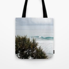 Surfing summer waves in Gold Coast Tote Bag