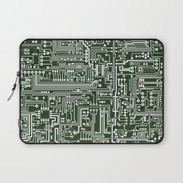 Circuit Board // Green & White Laptop Sleeve