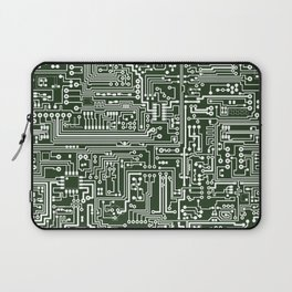 Circuit Board // Green & White Laptop Sleeve