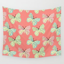 Pastel Butterfly  Wall Tapestry