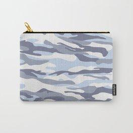 Pastel Blue Dusk Surprise Camo Carry-All Pouch
