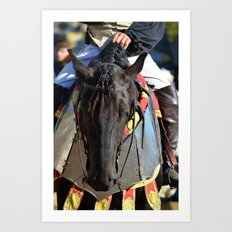 Jousting Horse - Portrait with Rider Art Print