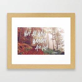 Lost Wanderers Framed Art Print