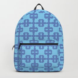 Dark blue and turquoise pattern with eyes Backpack