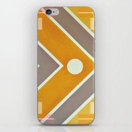 Fish - geometric square iPhone Skin
