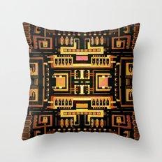 Circuit board v5 Throw Pillow