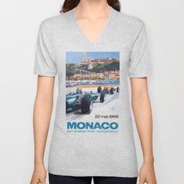 1966 MONACO Grand Prix Racing Poster Unisex V-Neck