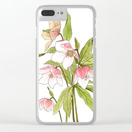 Rose Tinted Hellebore Clear iPhone Case