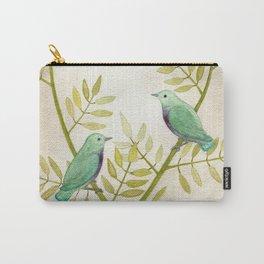 Celadon Birds Carry-All Pouch