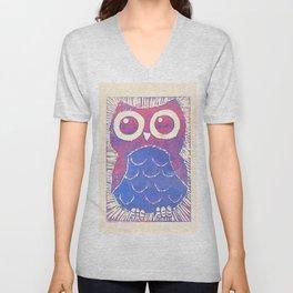 Wide Eyed Owl Unisex V-Neck