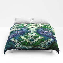 Celtic Peacocks Comforters