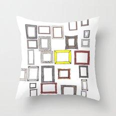 Art, Art Everywhere, but Not A Frame To Fill. Throw Pillow