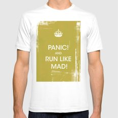 panic in mustard MEDIUM White Mens Fitted Tee