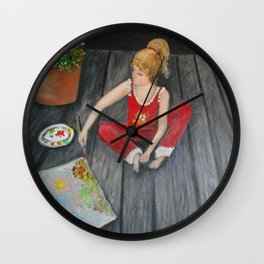 The Emerging Artist- see the difference  Wall Clock