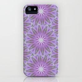 Retro Lavender Starburst iPhone Case