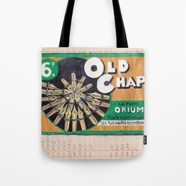 Old Chap Gold Pen Nib Display from France in Gouache Tote Bag