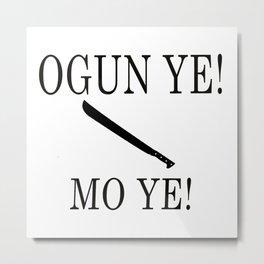 Ogun Metal Print