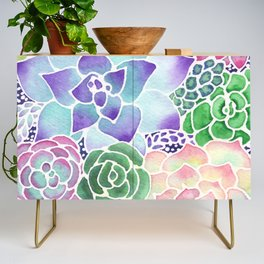 Masked Flora Collection Succulents Credenza