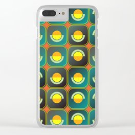 Semicircles and arcs pattern Clear iPhone Case