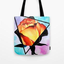 Fire Rose Tote Bag
