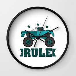 """Monster Trucks Rule"" luxurious and glorious inspired tee design for rider like you! Wall Clock"
