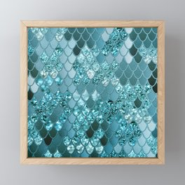 Mermaid Glitter Scales #4 #shiny #decor #art #society6 Framed Mini Art Print