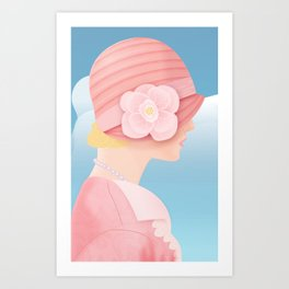 Edith on a Spring Day Art Print