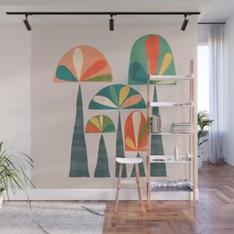 Quirky retro palm trees Wall Mural