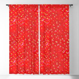 Juicy strawberries pattern Blackout Curtain