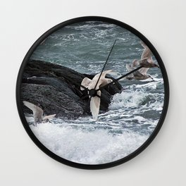 Gulls shop for Dinner Wall Clock