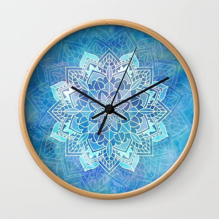 Mandala blue Wall Clock