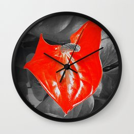 Anthurium Wall Clock